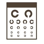 眼科の視力検査用のランドルト環