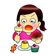 糖質をやけ食いする女性