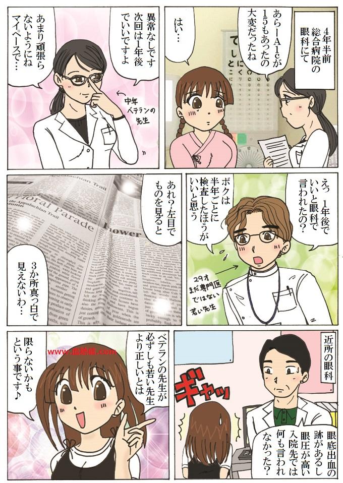 若い医師とベテラン医師の漫画