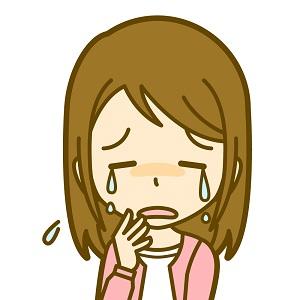 糖尿病腎症と言われて泣く女性