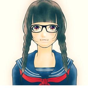 真面目そうなメガネの優等生の女子中学生