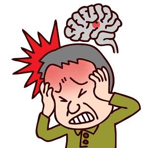 脳動脈瘤または脳梗塞、脳卒中など脳の病気の男性