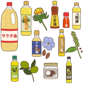 いろいろな種類の油