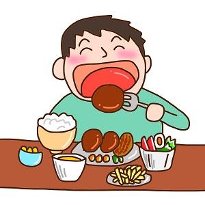 食べるの大好き!いっぱい食べる男性