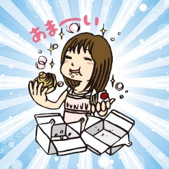甘い物を食べて血糖値が上がって幸せな女性