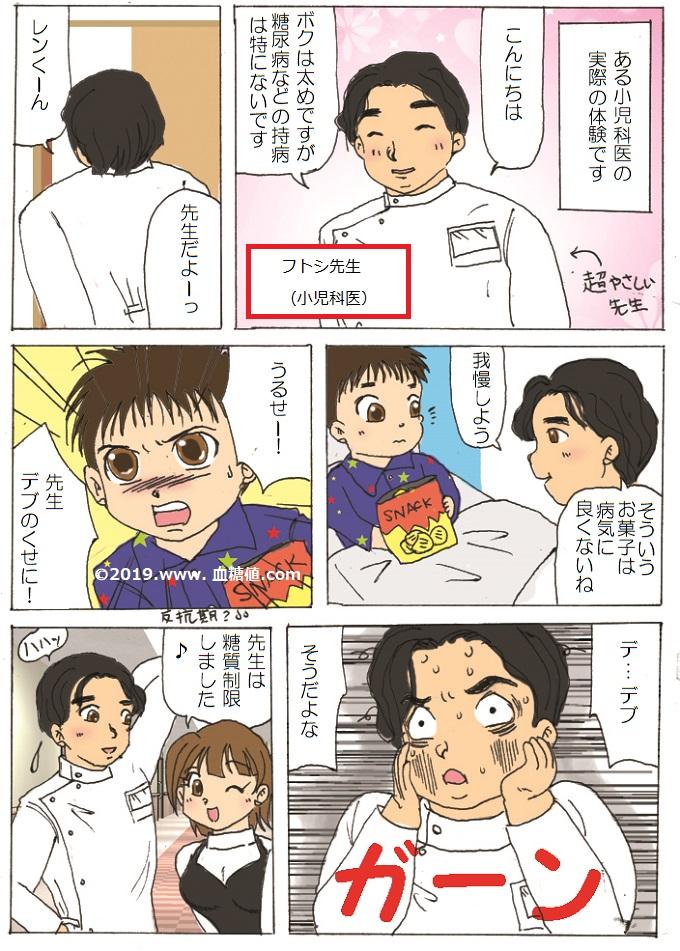 太った医者に食事のことを言われたくない という内容の漫画