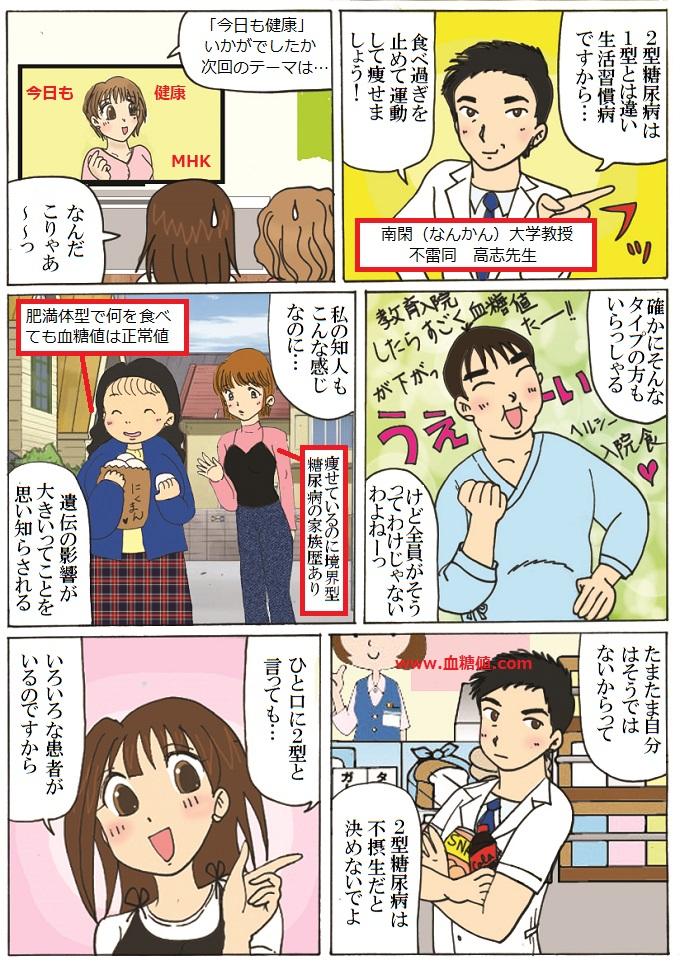 2型糖尿病への偏見と差別についての漫画