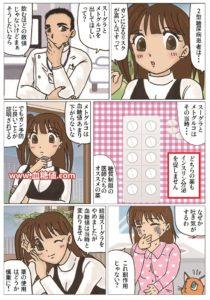 経口血糖降下薬に関する漫画