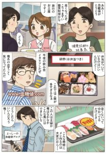 糖尿病に悩むサラリーマンの漫画