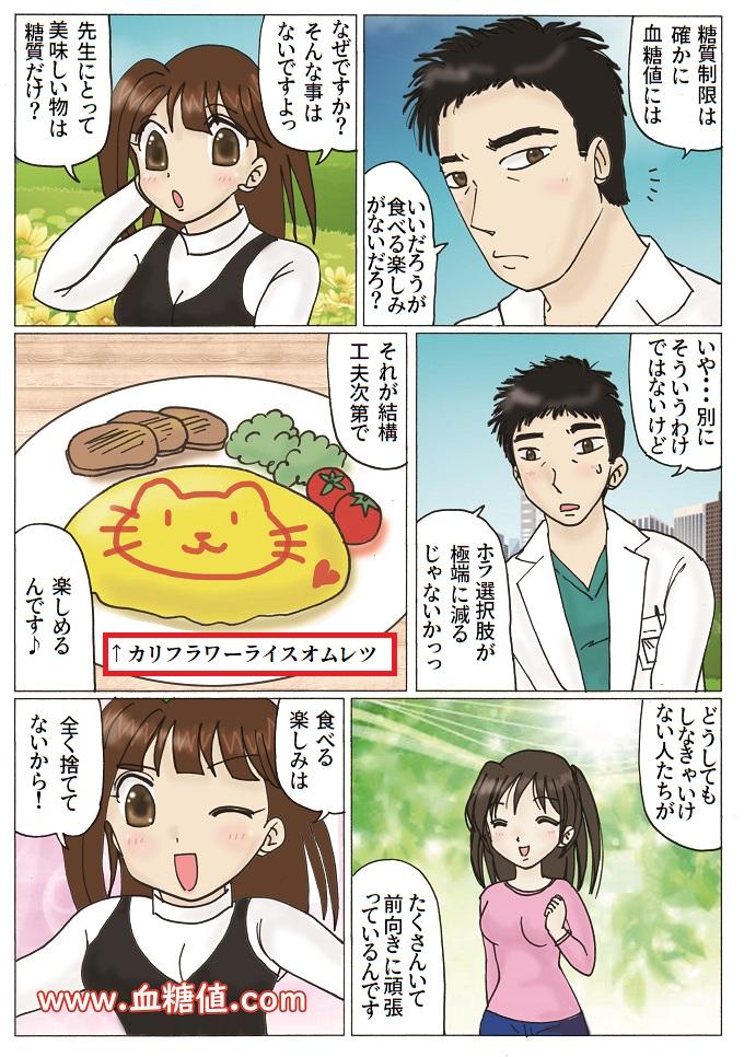 糖質制限と「食べる楽しみに関する内容の漫画