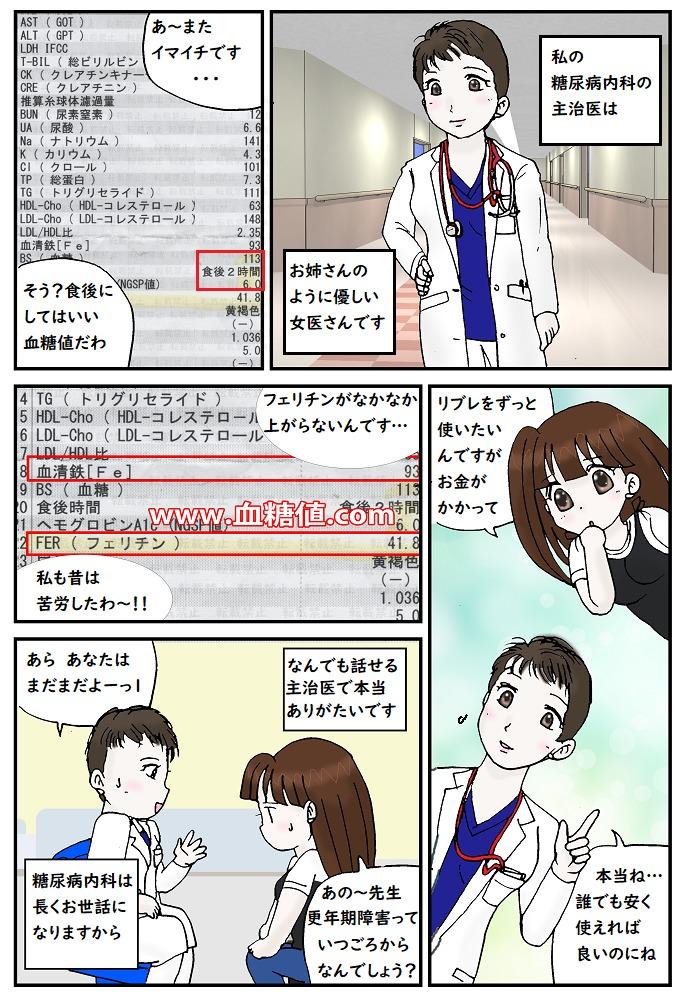 2020年9月糖尿病内科の受診マンガ