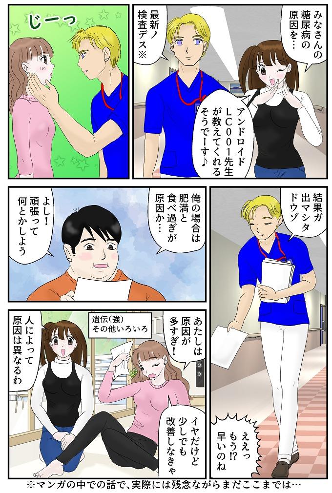 糖尿病の原因に関する漫画