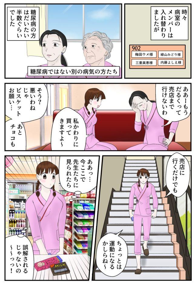 糖尿病マンガ20ページ目