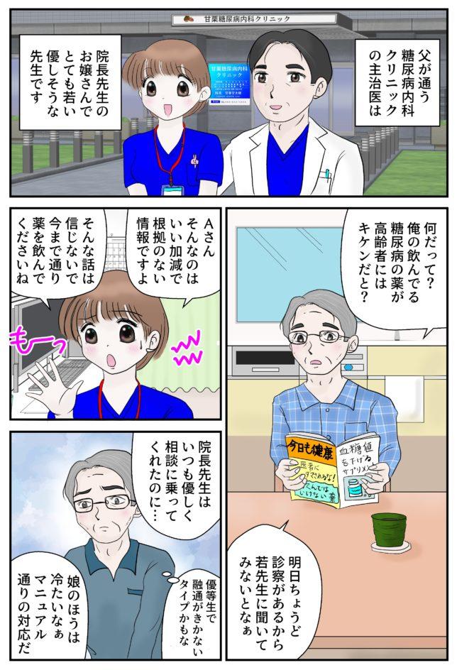 糖尿病マンガ2ページ目
